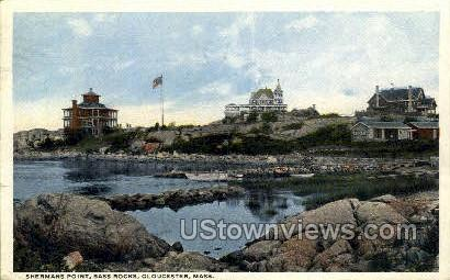 Sherman's Point, Bass Rocks - Gloucester, Massachusetts MA Postcard