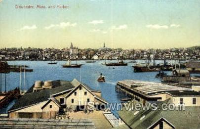 The Harbor - Gloucester, Massachusetts MA Postcard
