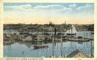 Harbor - Gloucester, Massachusetts MA Postcard