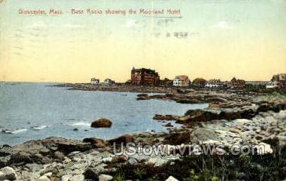 Moorland Hotel, Bass Rock - Gloucester, Massachusetts MA Postcard