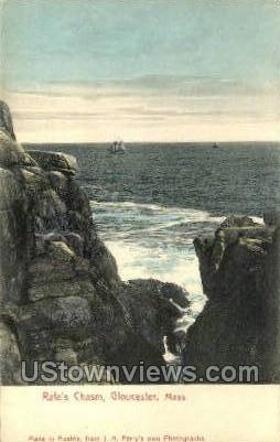 Rafe's Chasm - Gloucester, Massachusetts MA Postcard