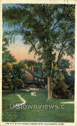 Old Witch House, Pigeon Cove - Gloucester, Massachusetts MA Postcard