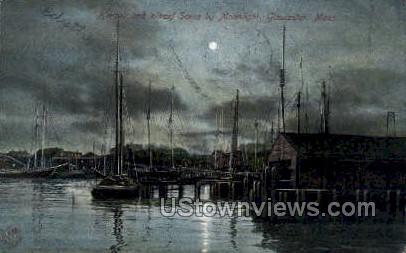 Harbor, Wharf - Gloucester, Massachusetts MA Postcard