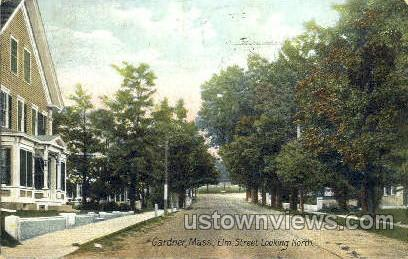 Elm St. - Gardner, Massachusetts MA Postcard