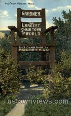 Largest Chair in World - Gardner, Massachusetts MA Postcard