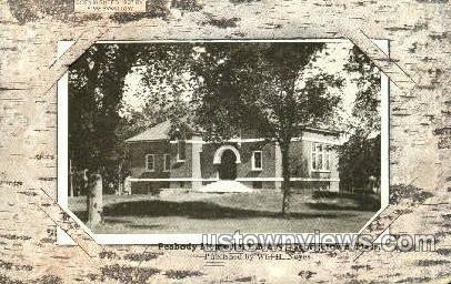 Peabody Memorial Library - Georgetown, Massachusetts MA Postcard