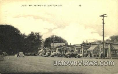 Main St. - Georgetown, Massachusetts MA Postcard