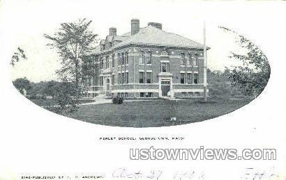 Perley School - Georgetown, Massachusetts MA Postcard