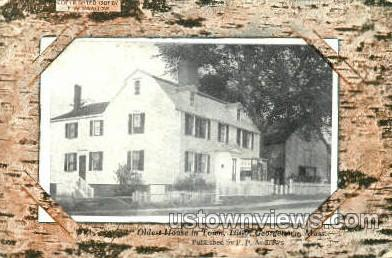 Oldest House in Town - Georgetown, Massachusetts MA Postcard