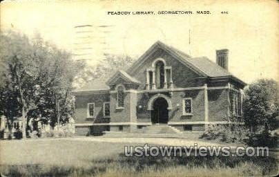 Peabody Library - Georgetown, Massachusetts MA Postcard