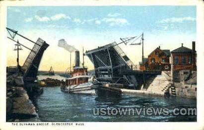The Blynman Bridge - Gloucester, Massachusetts MA Postcard