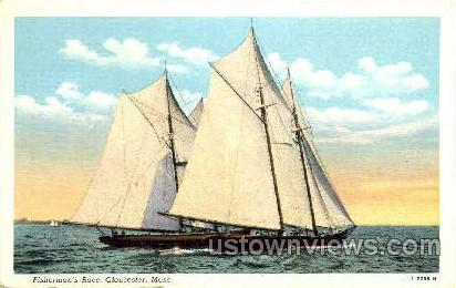 Fisherman's Race - Gloucester, Massachusetts MA Postcard