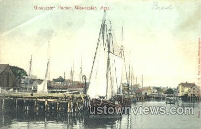 Gloucester Harbor - Massachusetts MA Postcard