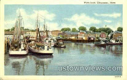 Waterfront - Gloucester, Massachusetts MA Postcard