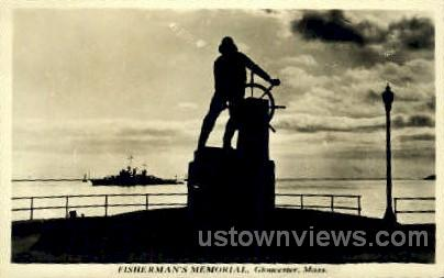 Real photo - Fisherman's Memorial - Gloucester, Massachusetts MA Postcard
