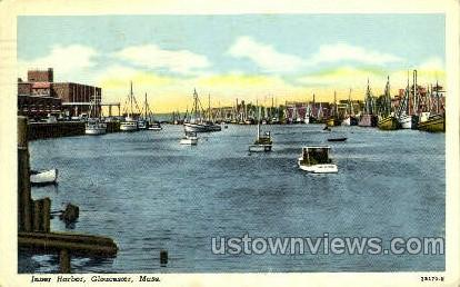 Inner Harbor - Gloucester, Massachusetts MA Postcard