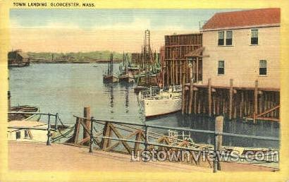 Town Harbor - Gloucester, Massachusetts MA Postcard