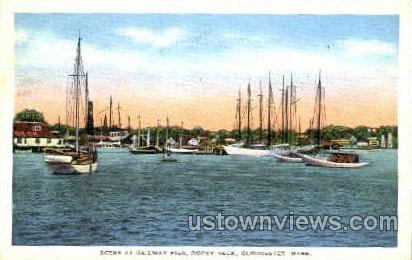 Railway Pier, Rocky Neck - Gloucester, Massachusetts MA Postcard