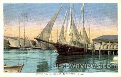 Wharfs - Gloucester, Massachusetts MA Postcard