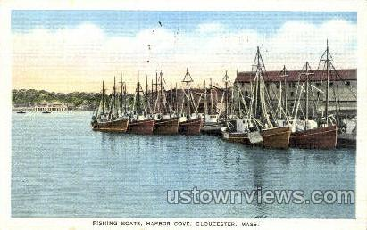 Fishing Boats, Harbor Cove - Gloucester, Massachusetts MA Postcard