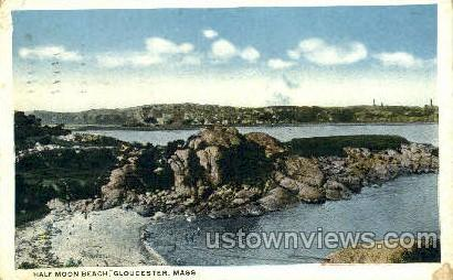 Half Moon Beach - Gloucester, Massachusetts MA Postcard