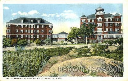 Hotel Thorwald, Bass Rocks - Gloucester, Massachusetts MA Postcard
