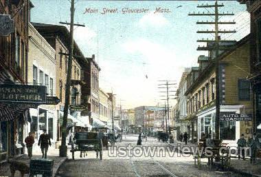 Main St. - Gloucester, Massachusetts MA Postcard