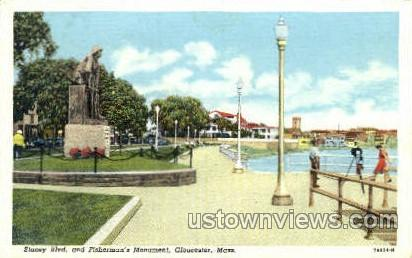 Stacey Blvd. - Gloucester, Massachusetts MA Postcard