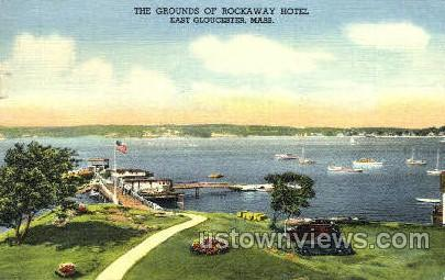 Grounds, Rockaway Hotel - Gloucester, Massachusetts MA Postcard