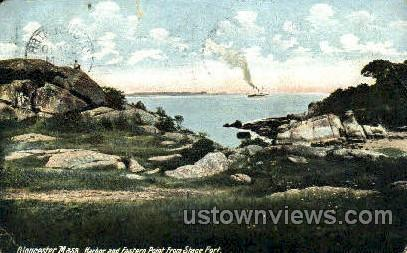 Harbor & Eastern Point - Gloucester, Massachusetts MA Postcard