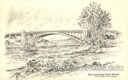 New Annisquam River Bridge - Gloucester, Massachusetts MA Postcard