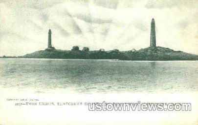 Thatcher's Island - Gloucester, Massachusetts MA Postcard