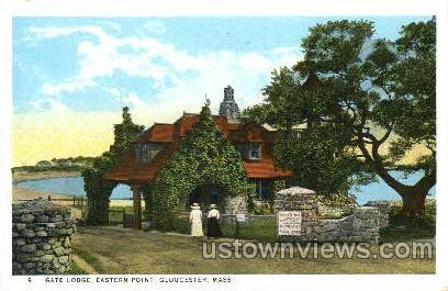 Gate Lodge, Eastern Point - Gloucester, Massachusetts MA Postcard