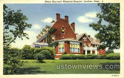 Henry Heywood Memorial Hospital - Gloucester, Massachusetts MA Postcard