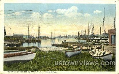 Fishing Schooners - Gloucester, Massachusetts MA Postcard