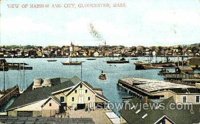 Harbor & City - Gloucester, Massachusetts MA Postcard