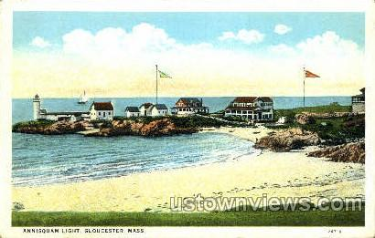 Annisquam Light - Gloucester, Massachusetts MA Postcard