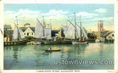 Fishing Boats - Gloucester, Massachusetts MA Postcard