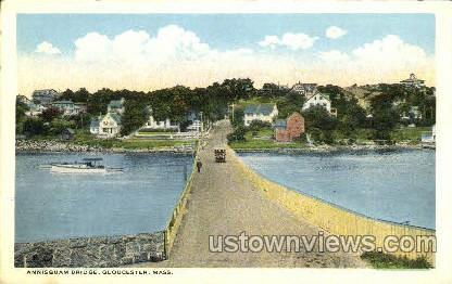 Annisquam Bridge - Gloucester, Massachusetts MA Postcard