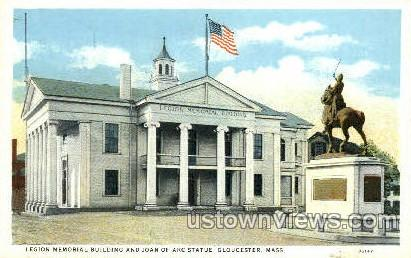 Legion Memorial Building - Gloucester, Massachusetts MA Postcard