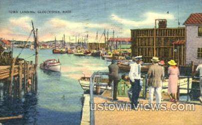 Town Landing - Gloucester, Massachusetts MA Postcard