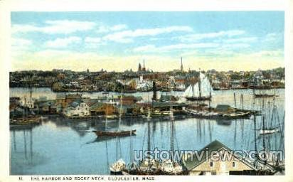The Harbor, Rocky Neck - Gloucester, Massachusetts MA Postcard