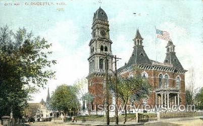 City Hall - Gloucester, Massachusetts MA Postcard