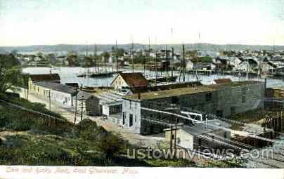 Cove & Rocky Neck - Gloucester, Massachusetts MA Postcard