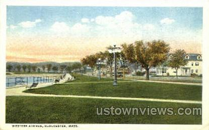 Western Ave. - Gloucester, Massachusetts MA Postcard
