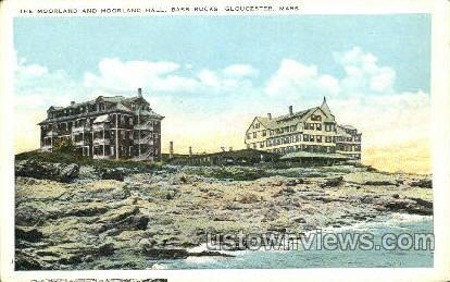 The Moorland & Moorland Hall - Gloucester, Massachusetts MA Postcard