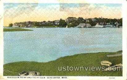 Annisquam Point & Yacht Club - Gloucester, Massachusetts MA Postcard