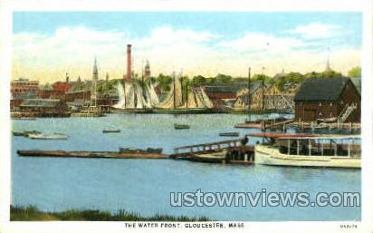 The Water Front - Gloucester, Massachusetts MA Postcard