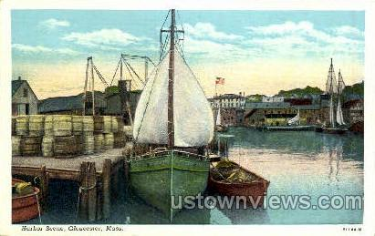 Harbor - Gloucester, Massachusetts MA Postcard