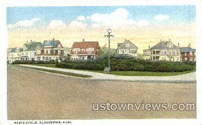 Kents Circle - Gloucester, Massachusetts MA Postcard